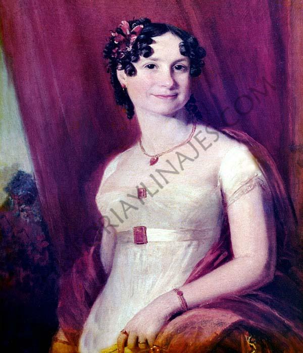 Francisca de Brito. Esposa de Evaristo Pérez de Castro, retratada por el maestro francés Jean Louis David.
